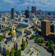 Aerial View Of Skyline And Georgia Art Print