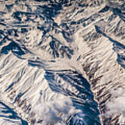 Aerial View Of The Mountains Art Print