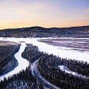Aerial View Of The Tanana River Valley Art Print