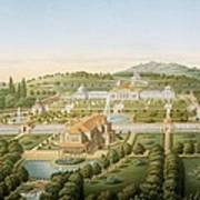 Aerial View Of The Villa Of King Art Print