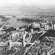 Aerial View Of Windsor Castle. Art Print