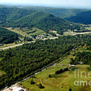 Aerial View Us Route 19  Art Print