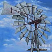 Aermotor Windmill Art Print