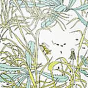 Aesop: Ant & Grasshopper Art Print