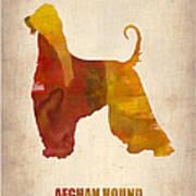 Afghan Hound Poster Art Print by Naxart Studio
