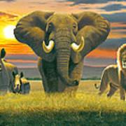 Africa Triptych Variant Art Print