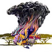 Africa Up In Smoke Art Print