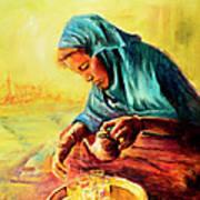 African Chai Tea Lady. Art Print
