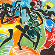 African Dancers No. 3 Art Print