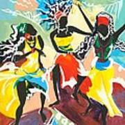 African Dancers No. 4 Art Print