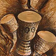 African Drums Art Print