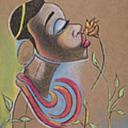 African Girl Art Print by Chibuzor Ejims