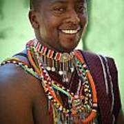 African Smile Art Print