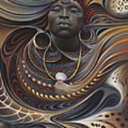 African Spirits I Art Print by Ricardo Chavez-Mendez