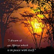 Africas Dream Nelson Mandela Art Print