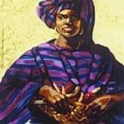 Afro Caribe Fruit Baskit Art Print