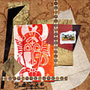 Afro Collage A Art Print