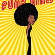 Afro Disco Girls Art Print