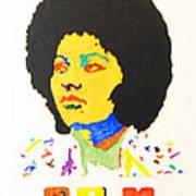 Afro Pam Grier Art Print