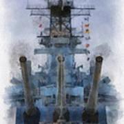 Aft Turret 3 Uss Iowa Battleship Photoart 01 Art Print