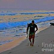 After A Long Day Of Surfing Art Print by John Malone