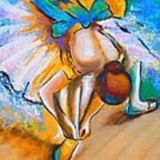 After Master Degas Ballerina Tying Her Shoe Art Print