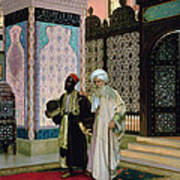 After Prayers At The Mosque Art Print by Rudolphe Ernst