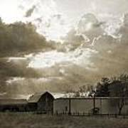 After The Storm On The Farm Art Print