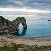 Afternoon Cloud Breaking Up At Durdle Door Art Print
