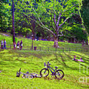 Afternoon In The Park With Friends Art Print