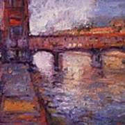 Afternoon On The Arno Art Print