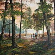 Afternoon Ride Through The Forest Art Print