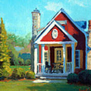 Afternoon The Gameskeeper Cottage Art Print