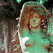 Afton Plantation Garden Statuary  Art Print