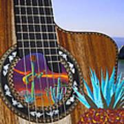 Agave Guitar Art Print