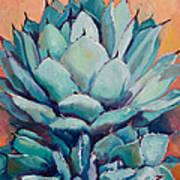 Agave With Pups Art Print