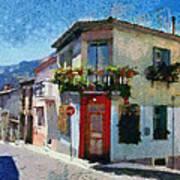 Agiassos Village Art Print