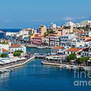 Agios Nikolaos Town Art Print