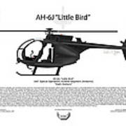 Ah-6j Little Bird Print by Arthur Eggers
