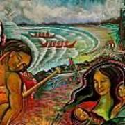 Ahousaht Mural  Art Print