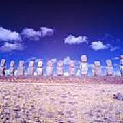 Ahu Tongariki Infrared Art Print