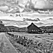 Ah...west Virginia Oil Bw Art Print