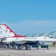Air Show Thunderbirds  Art Print