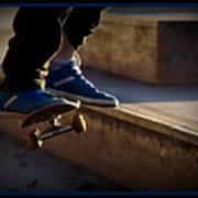 Airborne Skateboarder Art Print