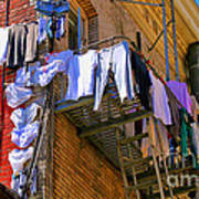Airing Out The Drawers By Diana Sainz Art Print
