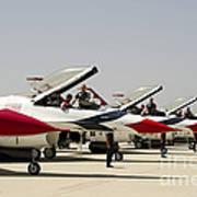 Airmen Conduct Preflight Preparations Print by Stocktrek Images