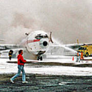 Airplane Crash Drill Landscape Art Print