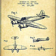 Airplane Patent Drawing From 1938-vintage Art Print