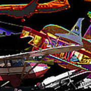 Airplanes Collage  Art Print