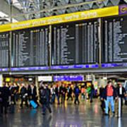 Airport Departure Board Frankfurt Germany Art Print